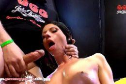 Beautiful skinny brunette loves sex – German Goo Girls