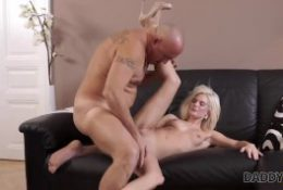 DADDY4K. Fat old dad gets a chance of making love to sons girlfriend
