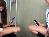 Dirty little asian teen pisses