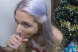 Hot XMas Present- Glory Hole POV Deepthroat Facial