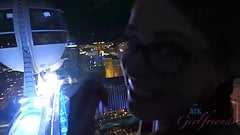Penny's mouth receives your cum several times in Vegas
