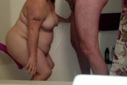Sexy BBW Gets Wet on Her Horse Dildo and Gets a Facial