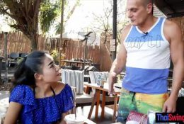 Tiny and petite Thai wife cheating on her husband