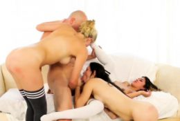 Bi anal orgy first time Coach J told them to do some