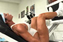 Camsoda – Hot milf stepmom fucked by trex in real gym sex