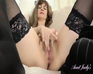 Mature Lady Spreads Her Legs
