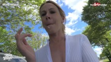 MyDirtyHobby – Amateur German MILF wife fucked outdoors