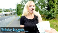 Public Agent hot blonde teen Russian Vera Jarw nailed outside