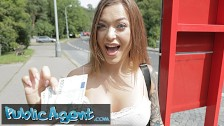 Public Agent hot russian misha maver pounded in a tunnel