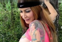 Squirting Leya Falcon outdoor doggystyle