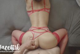 The Red Lady – Fit Amateur Babe NoFace Girl Fucks In Red Sexy Lingerie