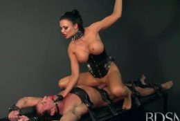 The Ultimate Queen shows no mercy as she milks and trains her new Slave dog