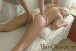 VANGOREN Cute Blonde Ivy got Pussy Massage with Huge Cock