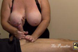 Amazing Topless Handjob – Big Tits & Big Cock – Great Handjob in 4K CUMSHOT