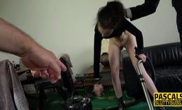 Ballgagged Submissive Teenager Gets Pounded
