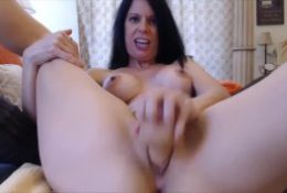 Dirty talking busty brunette who deserves your dick