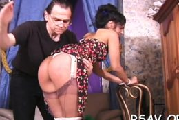 Gal gets her snatch eaten after being strapped and abased