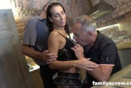Grandpa and Uncle Pay Stripper to Pound