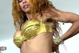 Hot skinny brazilian babe stripping