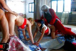 Santa Claus Castings! Orgy sex in the santa claus office