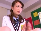 Alluring asian schoolgirl welcomes a hard dong in her slit