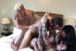 Bisexual Foursome with Hot Tattooed Girl, Jessie Lee & Johnny Hill