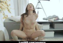 LustHD – Horny Russian Teen Gets An Anal Creampie!