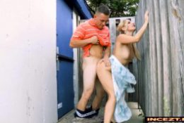 Mom and step-son have sex at the park