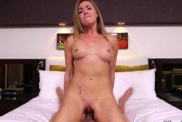Petite Blonde Amateur Slut Fucked POV