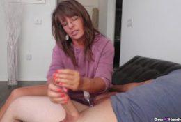 Sexy step-mom caught me masturbating