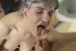 Nasty granny group fuck party