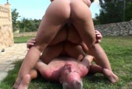 Three blonde milf's pissing on a men