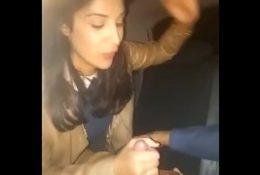 Desi Indian Hot GF Sucking Cock in a Car