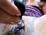 Hot Brunette Close Up Toying with Squirting SNC
