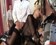 Hot Russian Blonde Lara Gets DP Banged With Four Cocks In Group Sex Orgy