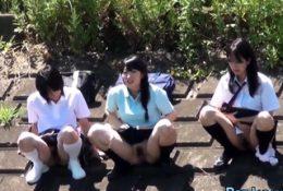 Naughty students urinating