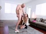 Petite Teen Ava Eden gets fuck by her neighbors bigcock
