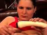 Pregnant slut with huge naturals gives a bj