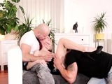 Red-haired slut and her bisex buddies screwing