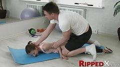 Slutty teenie is shown the hard way of anal stretching