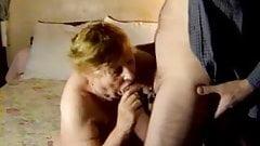 Chubby Granny Sucking Cock