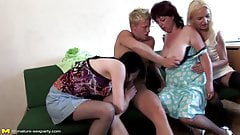 Crazy moms sharing lucky blond son