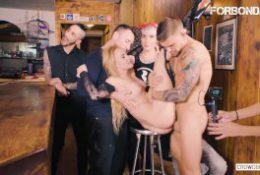 CrowdBondage – Hot Blonde Helena Valentine Fucked In Kinky BDSM Fetish Sex