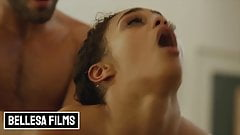 Ebony babe Scarlit Scandal rides Damon Dice big cock