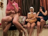 Gothic party first time Hot arab chicks attempt foursome