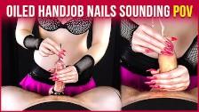 Oiled Handjob Edging with Cock Sounding & Cum Blocked   Era
