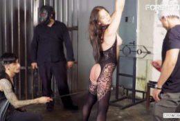 Crowd Bondage – Emily Rose Kinky Belarusian Slut Tied Up In Dungeon BDSM Session