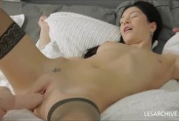 Lesbians Gerta And Neona Share A Big Toy