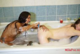 My gorgeous friend LisichkaMila licks my ass and shaves me nice and tender