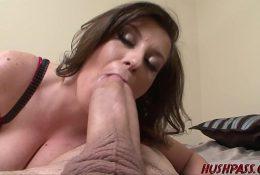 Sexy Sara Stone Takes a Crack at the Huge Cock of Whitezilla